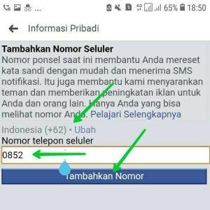 Cara Menambahkan Nomor HP/WA di FB
